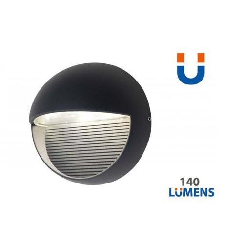 4250294303448b - 1865 Radius 9W Outdoor Led Wall Light - 4000 - Lutec
