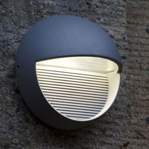 4250294303448c - 1865 Radius 9W Outdoor Led Wall Light - 4000 - Lutec