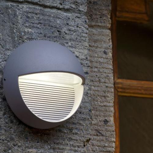 4250294303448d - 1865 Radius 9W Outdoor Led Wall Light - 4000 - Lutec