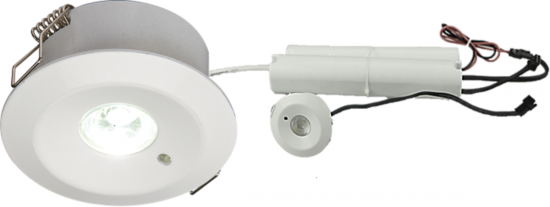 105842 550x207 - 230V IP20 3W LED Emergency Downlight (maintained/non-maintained) 3000K