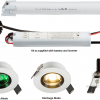 106314 100x100 - 230V IP20 5W LED Emergency Downlight 6000K (non-maintained use only)