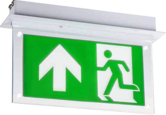 108986 550x382 - 230V 2W Recessed LED Emergency Exit sign