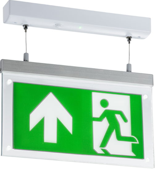 108988 502x550 - 230V 2W LED Suspended Double-Sided Emergency Exit Sign