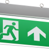 111722 100x100 - 230V IP20 Ceiling Mounted LED Emergency Exit Sign (maintained/non-maintained)