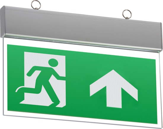 111722 550x437 - 230V IP20 Ceiling Mounted LED Emergency Exit Sign (maintained/non-maintained)