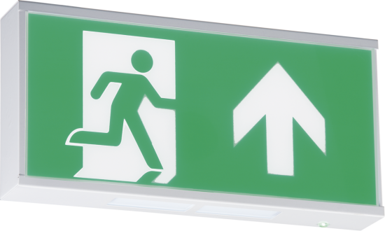 111726 550x330 - 230V IP20 Wall Mounted LED Emergency Exit sign (maintained/non-maintained)