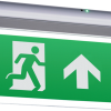 113176 100x100 - 230V IP20 Wall or Ceiling Mounted LED Emergency Exit Sign