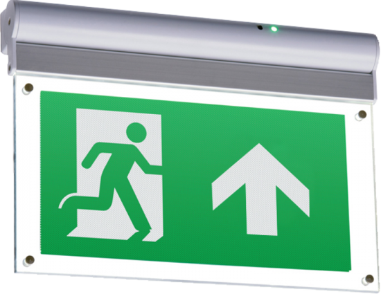 113176 550x425 - 230V IP20 Wall or Ceiling Mounted LED Emergency Exit Sign