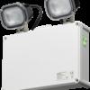 211114 100x100 - 230V IP65 2 x 3W LED Twin Emergency Spotlight - Self Test